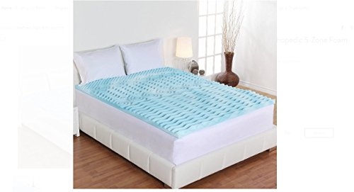 Dream Form 2-inch Orthopedic 5-zone Gel Foam Mattress Topper Size Queen by Crib Mattresses