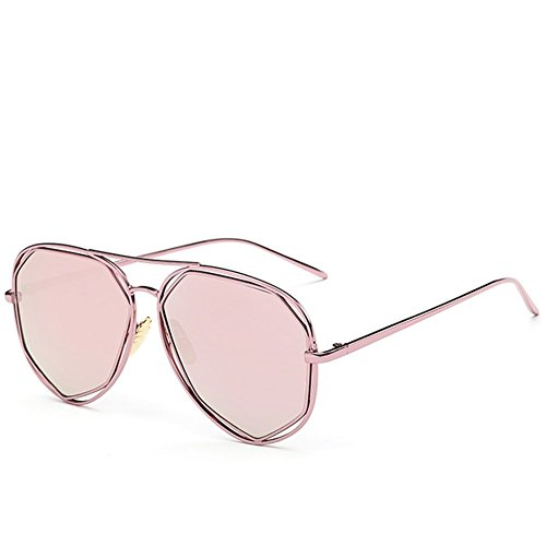 A-Roval Women Polarized Round Large Fashion Metal Colorful - Optics Anon Sunglasses