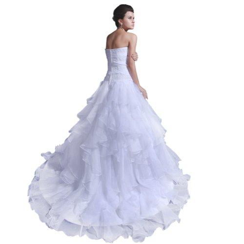 Bianco Sunvary lungo abito raso sera elegante Pageant da elegante abito qqwBHxzU