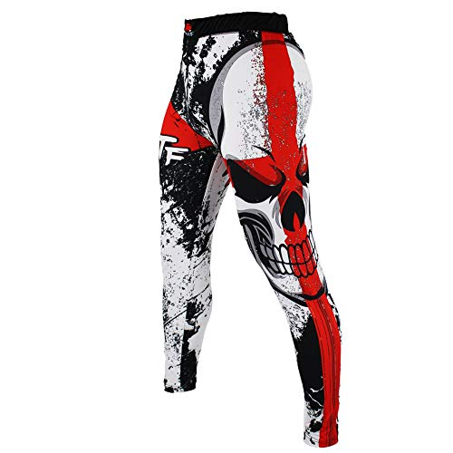 SUOTF MMA Boxing Sports Breathable Cross Skull Tight Pants Tiger Muay Thai Fist Pants Running Fights Kickboxing Shorts MMA
