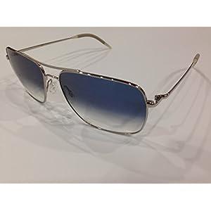 Oliver Peoples Unisex Clifton Silver/Chrome Saphire Photochromic Vfx Sunglasses