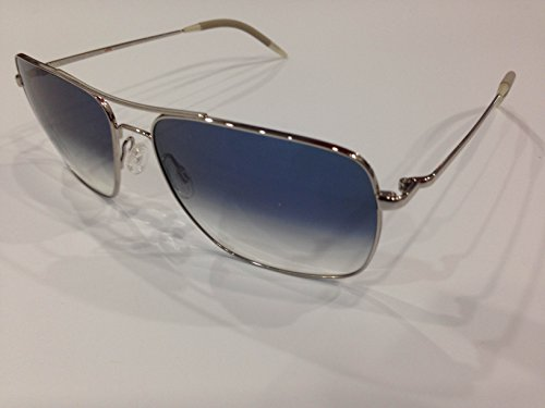 Oliver Peoples Unisex Clifton Silver/Chrome Saphire Photochromic Vfx - Pads Peoples Oliver Nose