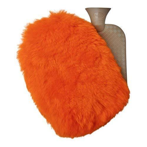 Lammfell Gummi Flasche Farbe Camel W/ÄRMFLASCHE SET 2,0 L Kuscheliger W/ärmflaschenbezug