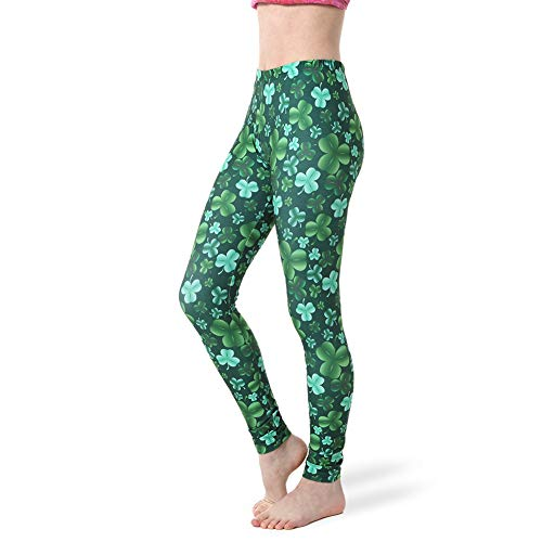(Alexandra Collection Womens St Patrick's Day Costume Clover Leggings Clover Adult)