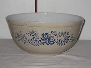Vintage PYREX Blue Polka Dot Glass Mixing Nesting Bowl #403 2 1/2 Quart