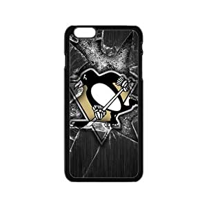Cute Penguin Play Hockey Ball Design Plastic Case Cover For Iphone 6