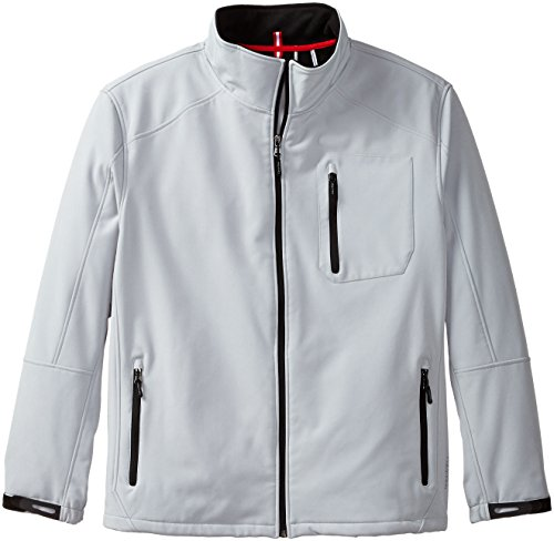 Calvin Klein Men's Front Zip Softshell Jacket, Steel, XX-Large