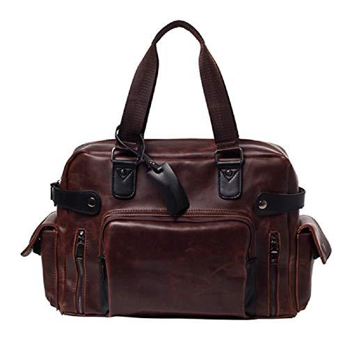 Men's Zhrui Trende Bag New Vintage Messenger Leisure Shoulder Handbag Laptop Brown Diplomatic 5qrqOWc