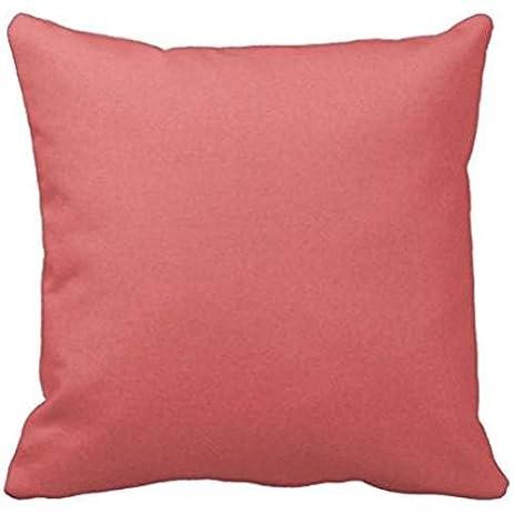 Solid Dark Coral Color Background Wallpaper Textur Throw R981c3a80583b4eb8bd8abec23eae69b8 I5fqz 8byvr Pillow Case
