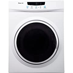 The Magic Chef 3.5 cu. ft. compact electric dryer is just what you need for smaller laundry loads when you don't have tons of space for a laundry setup. Its compact, space-saving design makes it perfect for apartments, dorms or even RVs. For ...