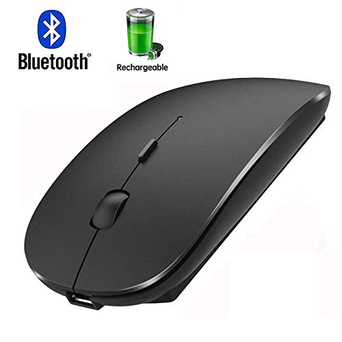 Bluetooth Mouse for Laptop Mac Pro Air Bluetooth Wireless Mouse for MacBook pro MacBook Air MacBook Mac Window Laptop (Black)