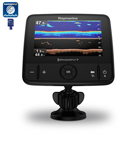 Cheap Raymarine Dragonfly 7 PRO Fish Finder with Dual-Channel CHIRP DownVision Sonar and Chartplotter – Includes Navionics+ NAG Charts