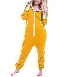 Womens Ladies Onesie Hoodie Jumpsuit Playsuit