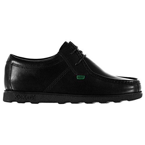 Kickers - Zapatos de cordones de Piel para hombre negro