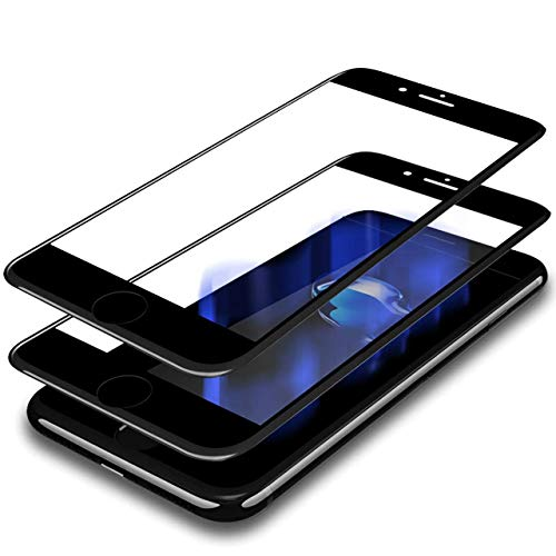 Humixx [2 Pack] iPhone 8 Plus/iPhone 7 Plus Screen Protector,Humixx 3D HD Edge to Edge Crystal Clear Tempered Glass Screen Protector Full Coverage for Apple iPhone 7/8 Plus (Case Friendly)-2 Pack