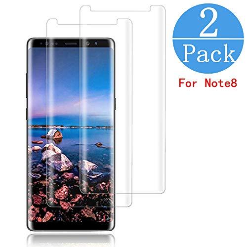 [2 - Pack] Samsung Galaxy Note 8 Screen Protector,[HD Clear][Anti-Bubble][9H Hardness][Anti-Scratch][Anti-Fingerprint] Tempered Glass Screen Protector Compatible Note 8