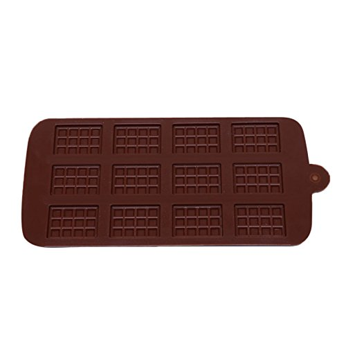 Sixsons 12-Cavity Silicone Chocolate Bar Cake Sugarcraft Sugar Soap Baking Mould Mold