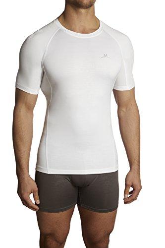 Mission Men's VaporActive Compression Shirt, White