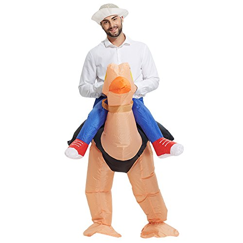 TOLOCO Adult Inflatable Ostrich Costume,Halloween Blow Up
