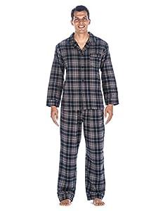 Noble Mount Mens Premium 100% Cotton Flannel Pajama Sleepwear Set