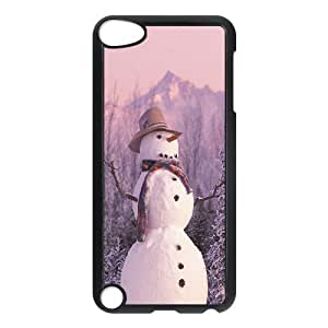 LZHCASE Design Phone Case Snowman For Ipod Touch 5 [Pattern-1]
