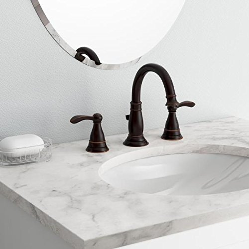 Delta Porter 8u0022 2-Handle Bathroom Faucet w/Drain Assembly Oil Rubbed Bronze