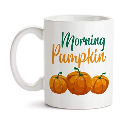 Morning Pumpkin Ceramic Coffee Mug -