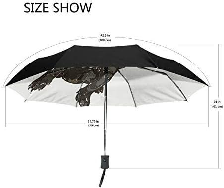 Chovy 折りたたみ傘 軽量 自動開閉 晴雨兼用 レディース 日傘 UVカット 遮光 ワンタッチ メンズ パグ スイカ いぬ 犬柄 かわいい 可愛い 雨傘 傘 晴雨傘 折り畳み 8本骨 遮熱 丈夫 耐風撥水 収納ポーチ付き プレゼント