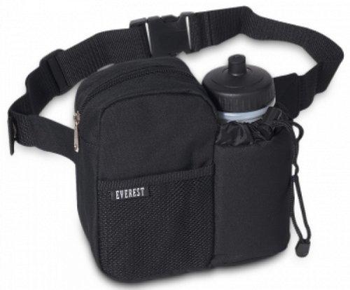 7.5″ Bottle Pack with Shoulder Strap Color: Black, Outdoor Stuffs