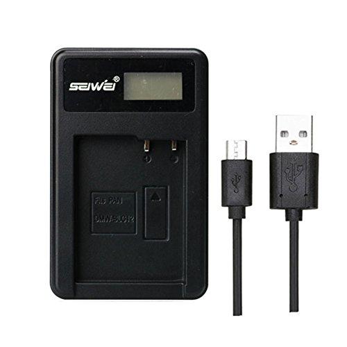 Fits PAN DMW-BLC12 DMWBLC12 LCD Single Charger Battery Charger for Panasonic Lumix FZ1000,FZ200,FZ300,G5,G6,G7,GH2,DMC-GX8