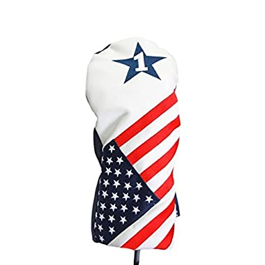 USA Patriot Golf 2016 Vintage Retro Patriotic Driver Headcover Head Cover Fits 460cc Drivers