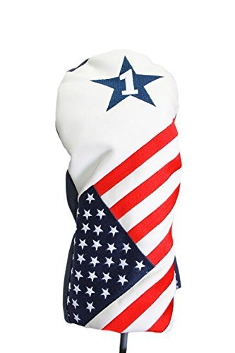 USA Patriot Golf 2016 Vintage Retro Patriotic Driver Headcover Head Cover Fits 460cc Drivers ()