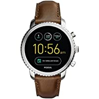Fossil Q Men's Gen 3 Explorist Stainless Steel and Leather Smartwatch (Silver-Tone, Brown)