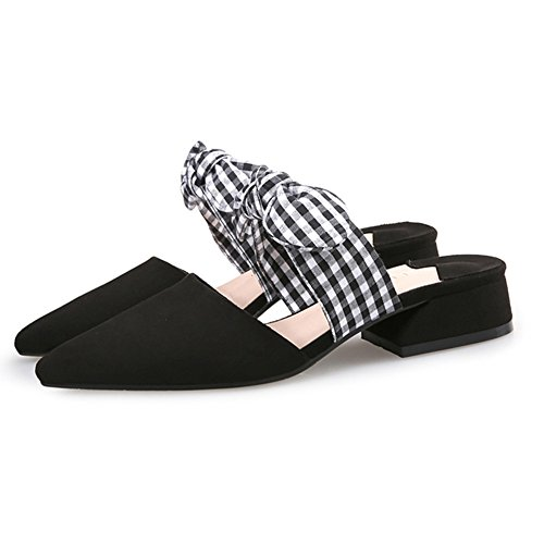 T-july Kroner Loafers Sko For Kvinner - Gitter Bowknot Slip On Lav Hæl  Spisse