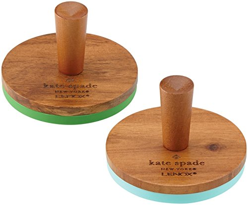 KSNY All in Good Taste Wood Cookie Press, Brown, Set of 2