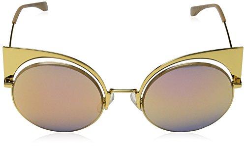 53 001 Cateye In Ff Occhiali s Oro Eyeshine Da Sole Giallo Fendi 0177 gold Bfq6f7