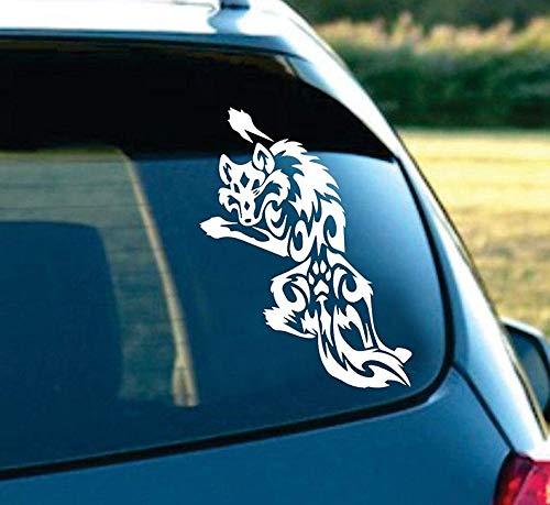 (CELYCASY Tribal Wolf Tattoo Art Nice Silhouette Laptop car Truck Decal Sticker 6