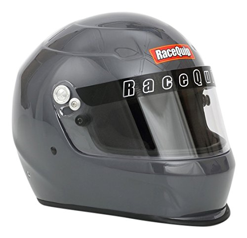 (RaceQuip 273666 Gloss Steel X-Large PRO15 Full Face Helmet (Snell SA-2015 Rated))