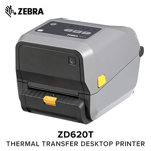 (Zebra - ZD620t Thermal Transfer Desktop Printer for Labels and Barcodes - Print Width 4 in - 300 dpi - Interface: Ethernet, Serial, USB - Peeler Preinstalled - ZD62043-T11F00EZ)