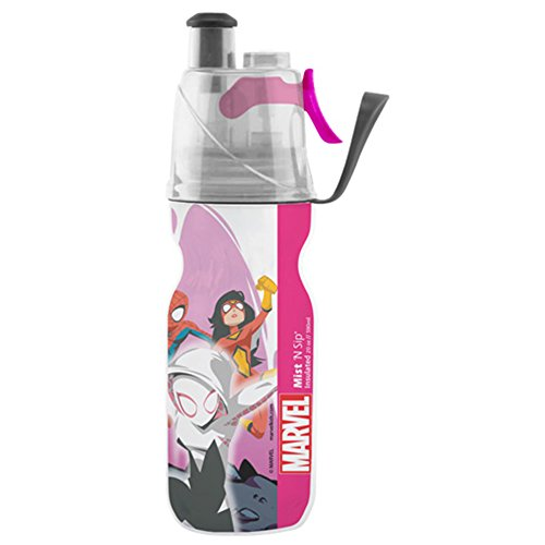 O2COOL Licensed ArcticSqueeze Insulated Mist 'N Sip Squeeze Bottle 12 oz