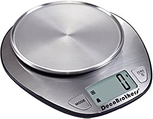 DecoBros Stainless Digital Multifunction Kitchen Food Scale,11lb Capacity by 0.1oz