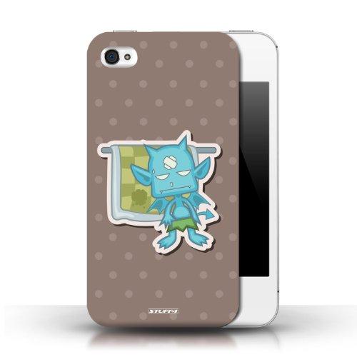 Etui / Coque pour Apple iPhone 4/4S / diable bleu conception / Collection de Petits monstres