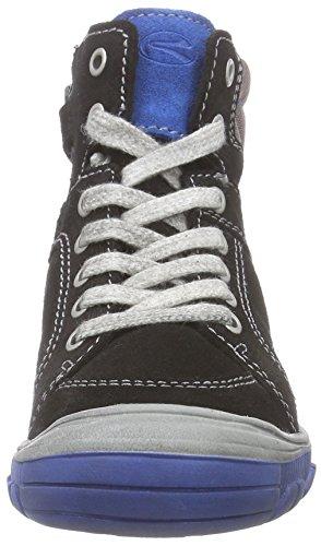 Richter Kinderschuhe Linz - zapatillas deportivas altas de cuero niños negro - Schwarz (black/lagoon  9901)