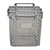 Marlin Steel 00-00278001-31 Mesh Basket with lid, Stainless Steel, Electropolish