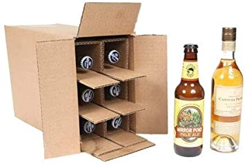 Amazon Com Spiritedshipper Six Bottle Shipper 375ml Beer Kraft 10 Boxes And Inserts Office Products