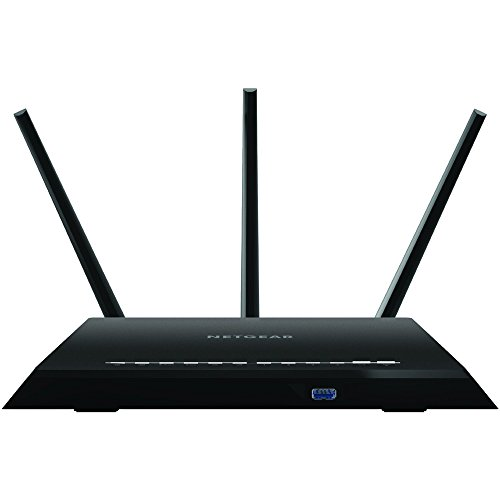 NETGEAR Nighthawk Smart WiFi Router R7000 – AC1900 Wireless Speed up to 1900 Mbps Up to 1800 sq ft Coverage 30 Devices 4 x 1G Ethernet and 2 USB ports Armor Security
