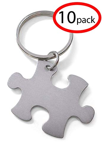 - Puzzle Keychain Appreciation Gift - Thanks for Being an Essential Part of Our Team (Set of 10)