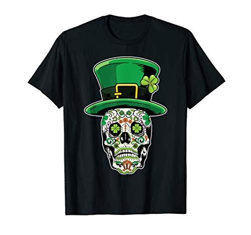 Sugar Skull Saint Patricks Day of Dead TShirt