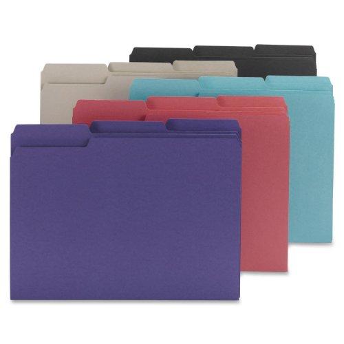Smead Interior File Folder, 1/3-Cut Tab, Letter Size, Assorted Colors, 100 per Box (10295)
