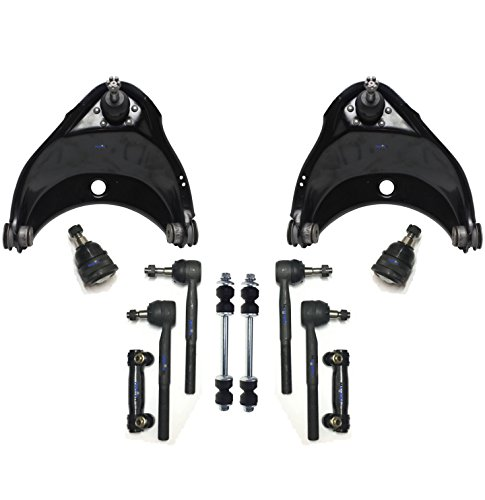 PartsW 12 Pc New Front Suspension Kit for Chevrolet Express 1500 2500 / GMC Savana 1500 2500 (1996-2002) Control Arms & Ball Joints Passenger & Driver Side ()